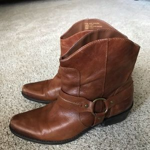 Franco Sarto leather ankle boots